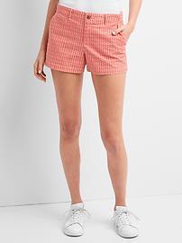 Print twill shorts