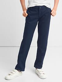 Uniform stain-resistant stretch straight chinos
