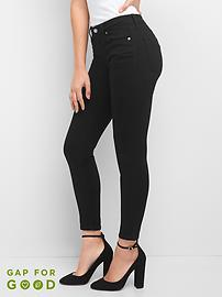 Washwell Mid Rise Everblack True Skinny Jeans in Sculpt