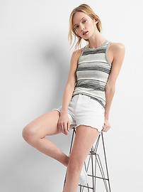 Pull-camisole superdoux à rayures