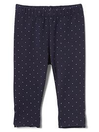 Dotty soft terry leggings