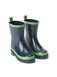 Bottes de pluie à motif de dinosaure
