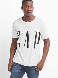 T-shirt ras du cou trois quarts avec logo