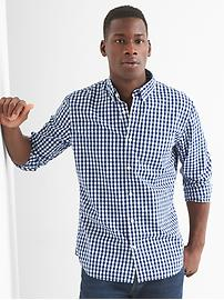 True wash poplin gingham standard fit shirt