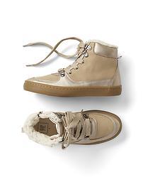 Cozy faux suede sneakers
