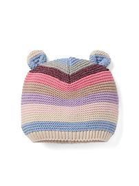 Bonnet d'ours en tricot