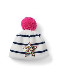 Pro Fleece pom-pom sequin hat