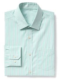 Chemise infroissable à fines rayures, coupe standard
