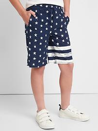 Stars & stripes pull-on shorts