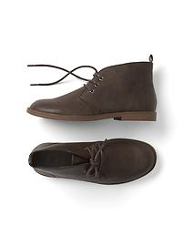 Faux leather desert boot