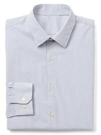 Stretch Poplin pinstripe standard fit shirt