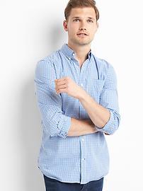 Chemise à mini-carreaux, fini authentique, coupe standard