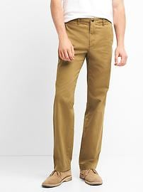 Vintage washed relaxed fit khakis