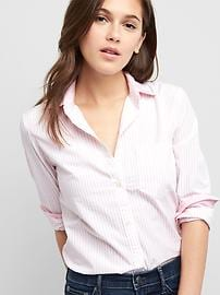 Stripe poplin fitted boyfriend shirt