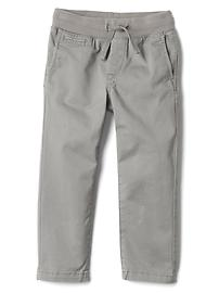 Pantalon en sergé à enfiler