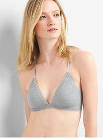 Supersoft lace triangle bralette
