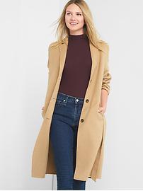 Manteau classique en laine