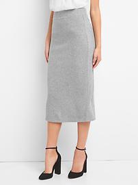 Softspun ribbed midi skirt