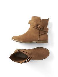 Suede tie boots