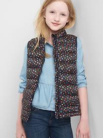 ColdControl Lite print puffer vest