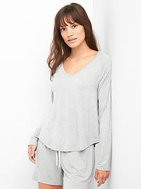 Long Sleeve Sleep T-Shirt in Modal