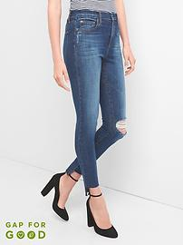 Super High Rise True Skinny Jeans with Step-Hem in 360 Stretch