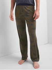 Pantalon en modal à imprimé camouflage