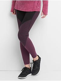 Maternity gFast full panel stripe-block leggings