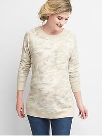 Maternity softspun knit crew sweatshirt