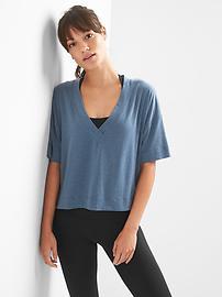 T-shirt Breathe à manches courtes avec col en V profond