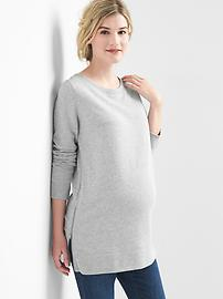 Maternity zip-side sweatshirt tunic