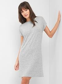 Softspun stripe crossback dress
