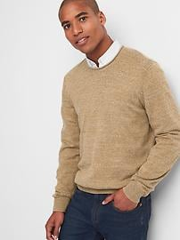 Marled roll-neck sweater