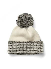 Marled pom hat