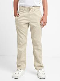 Uniform action stretch straight pants