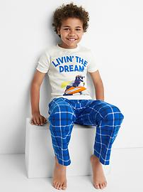 T-shirt de pyjama à imprimé ras du cou