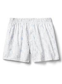 "Poplin print 4.5"" boxers"