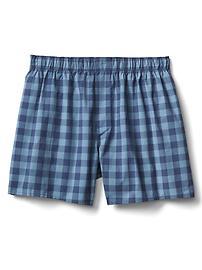 "Check plaid boxers (4.5"")"