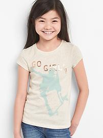 T-shirt à imprimé et ornementé futur