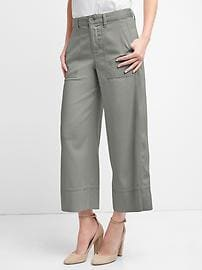 High rise TENCEL&#153 utility culottes