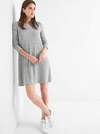 Robe évasée à manches longues en tricot moelleux