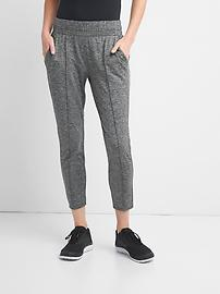GapFit pintuck brushed jersey ankle pants