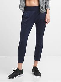 GapFit Pintuck Ankle Pants in Brushed Jersey