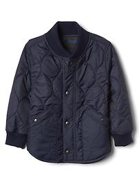 Puffer fleece-lined jacket