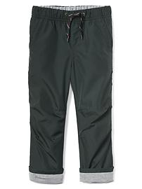 Jersey-lined pull-on pants