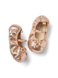 Shimmer ballet flats
