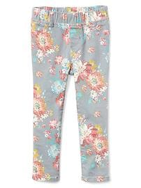 High stretch floral jeggings