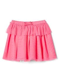 Tiered tulle flippy skirt