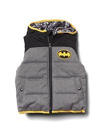 Veste rembourrée sans manches à capuchon Batman DCMC babyGap