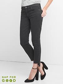 Mid Rise True Skinny Ankle Jeans with Step-Hem